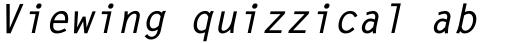 Letter Gothic Std Bold Oblique sample
