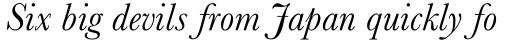 Baskerville Std Italic sample