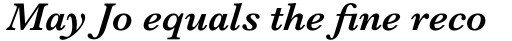 Baskerville Std SemiBold Italic sample
