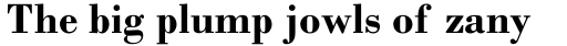 Monotype Bodoni Std Bold sample