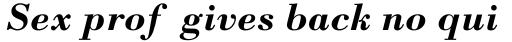 Monotype Bodoni Std Bold Italic sample