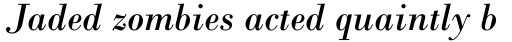 Monotype Bodoni Std Italic sample
