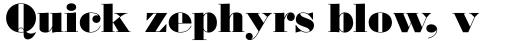Monotype Bodoni Std UltraBold sample