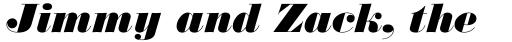 Monotype Bodoni Std UltraBold Italic sample
