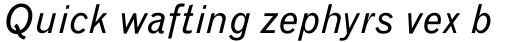 Monotype Grotesque Std Italic sample