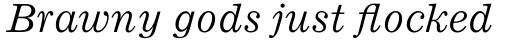 Ionic Std Italic sample