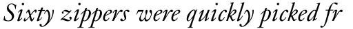 Janson Std Italic sample