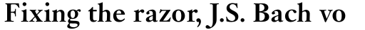 Janson Pro Bold sample