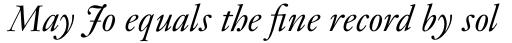 Monotype Janson Pro Italic sample