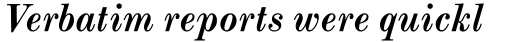 Monotype Modern Std Bold Italic sample