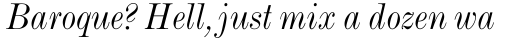 Monotype Modern Std Condensed Italic sample