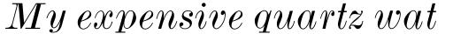 Monotype Modern Std Wide Italic sample
