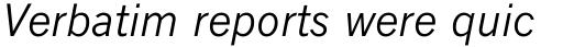 Monotype News Gothic Std Italic sample