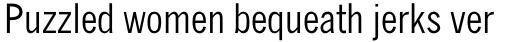 Monotype News Gothic Pro Condensed sample