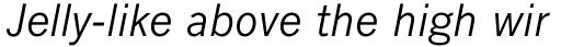 Monotype News Gothic Pro Italic sample