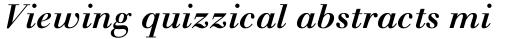 Monotype Walbaum Std Medium Italic sample