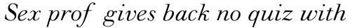 Monotype Walbaum Pro Italic sample