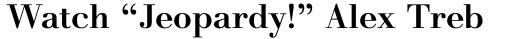Monotype Walbaum Pro Medium sample