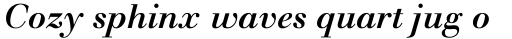 Monotype Walbaum Pro Medium Italic sample