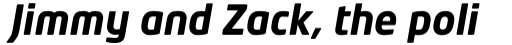 Neo Tech Std Bold Italic sample