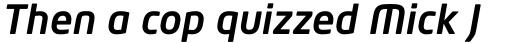 Neo Tech Std Medium Italic sample