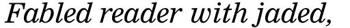 Nimrod Std Italic sample