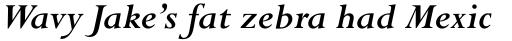 Perpetua Std Bold Italic sample