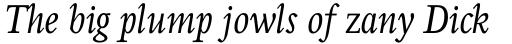 Perrywood Std Condensed Italic sample