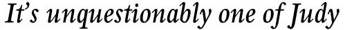 Perrywood Std Condensed SemiBold Italic sample
