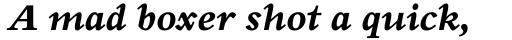 Perrywood Std ExtraBold Italic sample