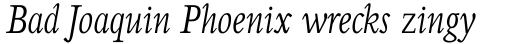 Perrywood Std Condensed Light Italic sample