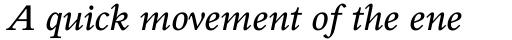 Perrywood Std SemiBold Italic sample