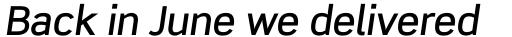 Scene Pro Medium Italic sample