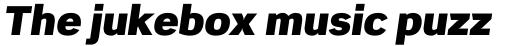 Scene Pro UltraBlack Italic sample