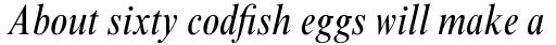 Times New Roman Std Condensed Italic sample