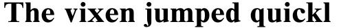 Times New Roman Std Seven Bold sample