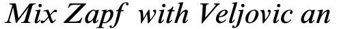 Times New Roman Std Seven Italic sample