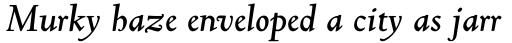 Truesdell Std Bold Italic sample