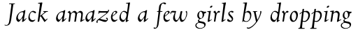 Truesdell Std Italic sample