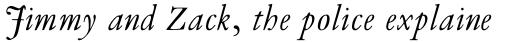 Van Dijck Std Italic sample