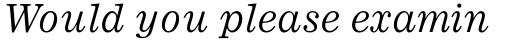 Ionic Pro Italic sample