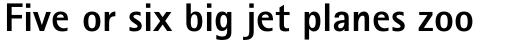 Rotis Sans Serif Pro 75 Greek ExtraBold sample