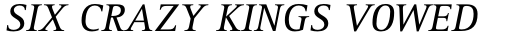 Rotis Serif Pro 56 Greek Italic sample