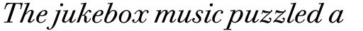Bodoni Twelve Book Italic sample