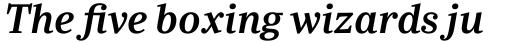 Ysobel Pro SemiBold Italic sample