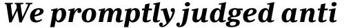 Ysobel Pro Bold Italic sample