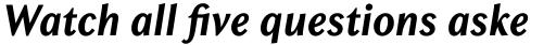 Chong Old Style Std Bold Italic sample