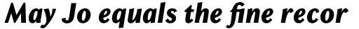 Chong Old Style Std ExtraBold Italic sample