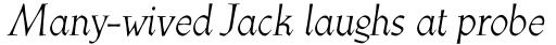 Athenaeum Pro Italic sample