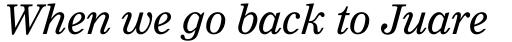 Clarion Pro Italic sample
